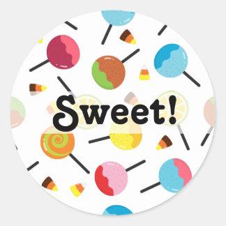 Sticker Rond Halloween personnalisable - sucrerie de sucrerie