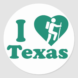 Sticker Rond Hausse le Texas