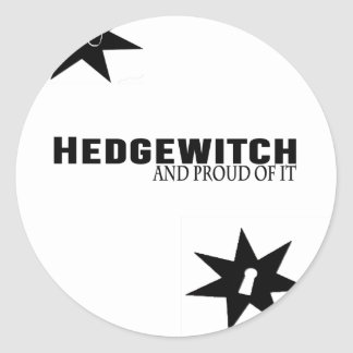 Sticker Rond Hedgewitch et fier de lui