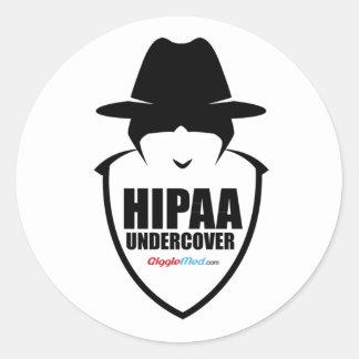 Sticker Rond HIPAA secret