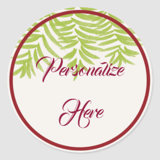 Sticker Rond Hiver personnalisable