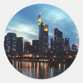 Sticker Rond Horizon de Francfort, Allemagne