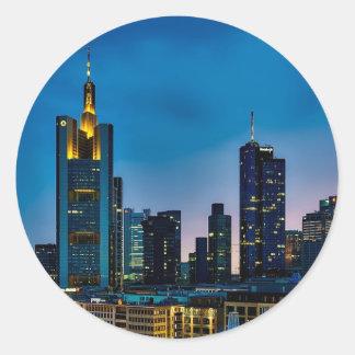 Sticker Rond Horizon de Francfort Allemagne