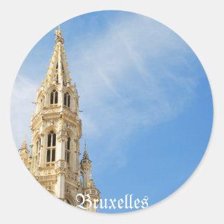 Sticker Rond hôtel de ville médiéval à Bruxelles