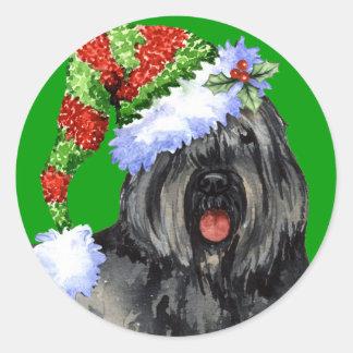 Sticker Rond Howliday heureux Bouvier
