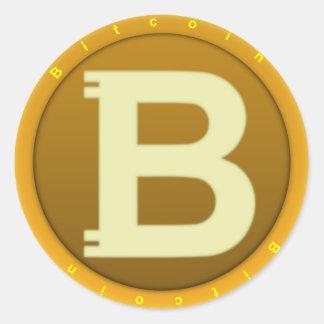Sticker Rond Icône de Bitcoin