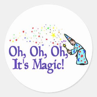 Sticker Rond Il est magique