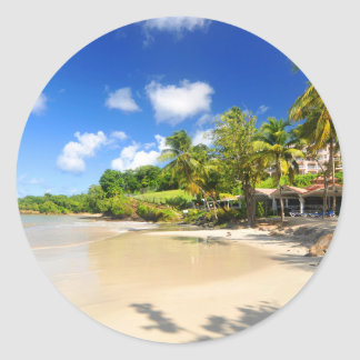 Sticker Rond Île tropicale au Cap Vert
