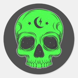 Sticker Rond Illustration classique de crâne