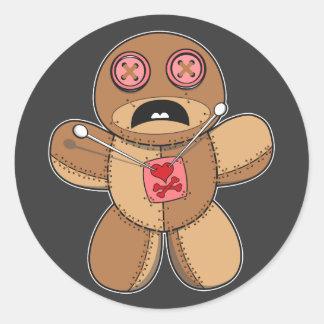 Sticker Rond Illustration de poupée de vaudou