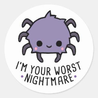 Sticker Rond I'm Your Worst Nightmare