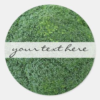 Sticker Rond image végétale végétalienne saine délicieuse de