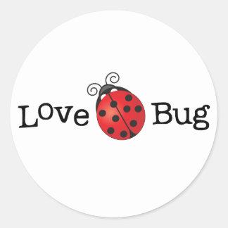 Sticker Rond Insecte d'amour - coccinelle