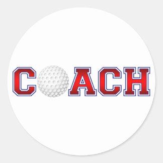 Sticker Rond Insignes gentils de golf d'entraîneur