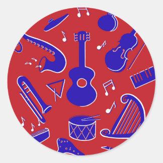 Sticker Rond Instruments de musique