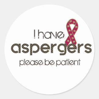 Sticker Rond J'ai Aspergers