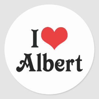 Sticker Rond J'aime Albert