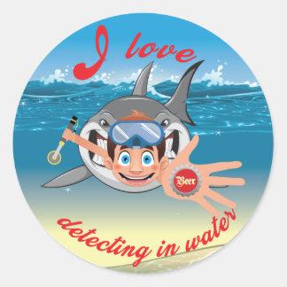 Sticker Rond J'aime détecter dans la version water_Boy
