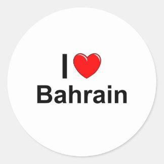 Sticker Rond J'aime le coeur Bahrain