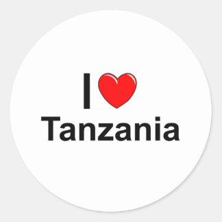 Sticker Rond J'aime le coeur Tanzanie