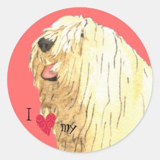 Sticker Rond J'aime mon Komondor