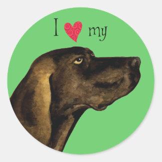 Sticker Rond J'aime mon Plott