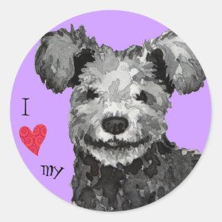 Sticker Rond J'aime mon Pumi