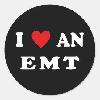 Sticker Rond J'aime un EMT