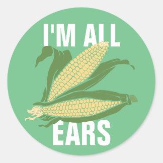 Sticker Rond Je suis toutes les oreilles