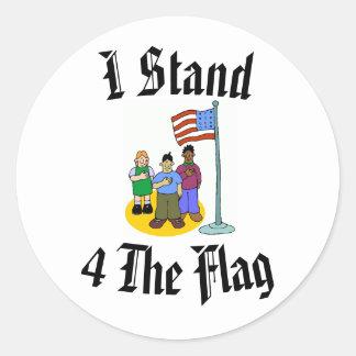 Sticker Rond Je tiens 4 le drapeau