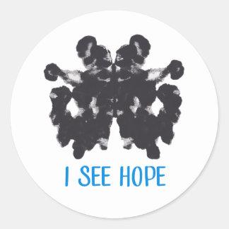 Sticker Rond Je vois l'autocollant d'espoir