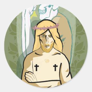 Sticker Rond JeSus FiGhT
