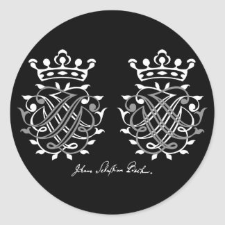 Sticker Rond Johann Sebastian Bach joints