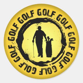 Sticker Rond Joint intéressant de golf