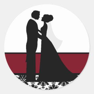 Sticker Rond Joints de couples de mariage de canneberge