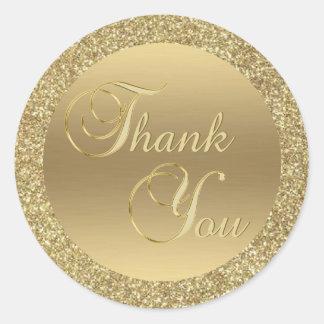 Sticker Rond Joints élégants d'enveloppe de Merci de