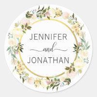 Joints floraux de mariage d'or blanc de guirlande