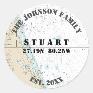 Sticker Rond Joints nautiques d'enveloppe Stuart la Floride