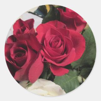 Sticker Rond Joints ronds d'enveloppe d'autocollants de rose