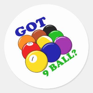 Sticker Rond Joueur obtenu de piscine de 9 boules
