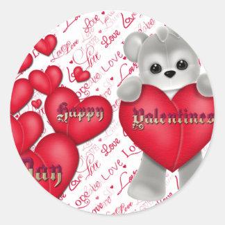 Sticker Rond Jour de la Saint Valentin