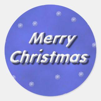 Sticker Rond Joyeux Noël de Milou