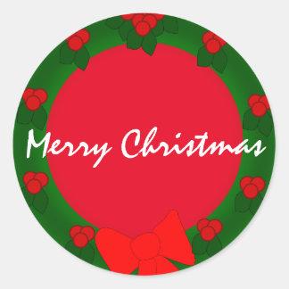 Sticker Rond Joyeux Noël de vacances