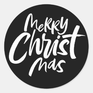 Sticker Rond Joyeux Noël religieux chrétien de MAS du Christ