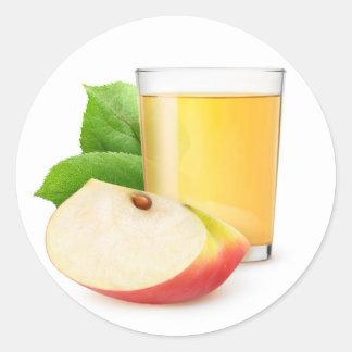 Sticker Rond Jus de pomme