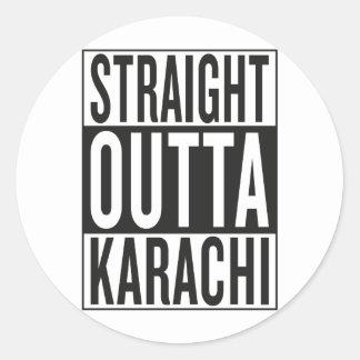 Sticker Rond Karachi droite d'outta