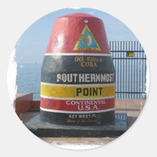 Sticker Rond Key West