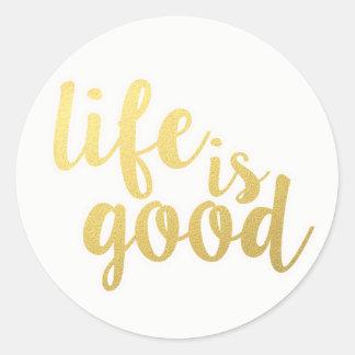 Sticker Rond La citation de motivation d'attitude de la vie