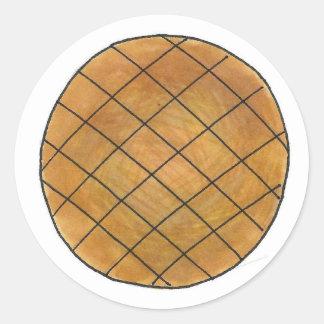 Sticker Rond La cuisson de biscuit de beurre d'arachide font