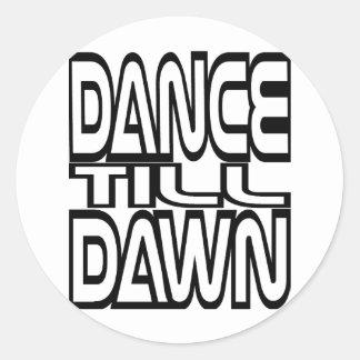 Sticker Rond La danse labourent l'aube